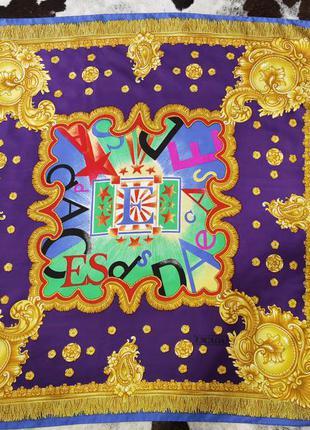 Невероятный винтаж 💯👑шелк платок шарф escada by margaretha lev circus(цирк)