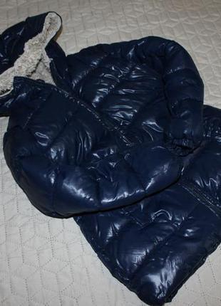 Куртка пальто на меху benetton 7-8 лет