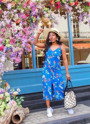 Платье сарафан в цветы primark. большой размер
