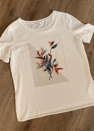 Нарядная оригинальная футболка от gerry weber, р.36