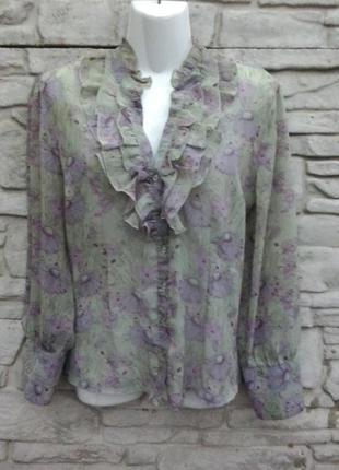 Распродажа!!! много скидок!!!! красивая, нарядная. шифоновая блуза с длинным рукавом