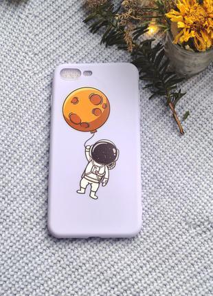Ніжно голубий чохол на iphone 7+ 8+ нежно голубой чехол на iphone 7+ 8+