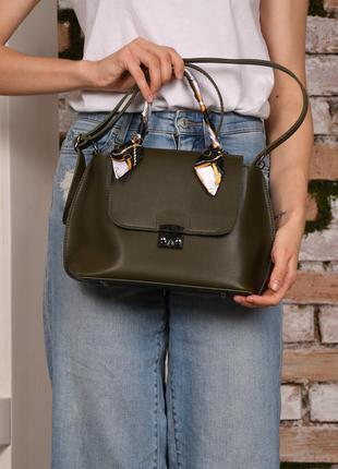 Женская сумка с ручкой хаки сумка через плечо хаки клатч через плечо кроссбоди