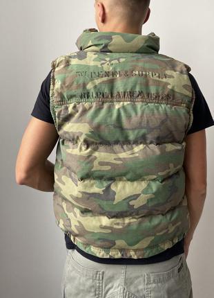 Мужская винтажная жилетка ralph lauren denim&supply vintage camo vest дутая