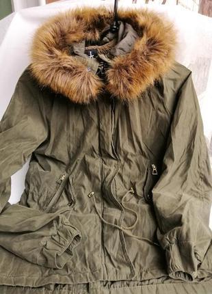 Жіноча куртка-парка від atmosphere. розмір 38.