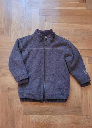 Пальто утепленная куртка на мальчика 104