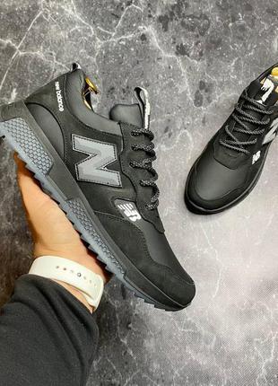 New balance мужские кожаные кроссовки весна осень