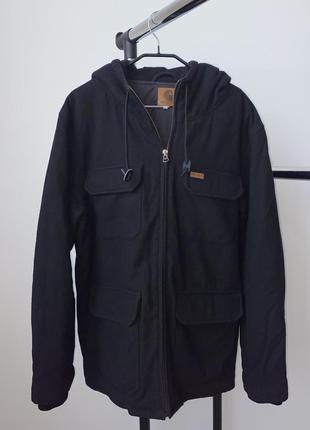 Мужское шерстяное пальто куртка carhartt wip court coat