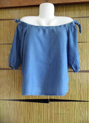 Блуза деним, новая new look размер 8(36) – идет на 42-44-46