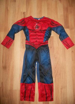Карнавальный костюм супергерой человек паук на мальчика 5-6 лет