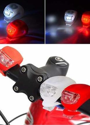 Велосипедний силіконовий ліхтар bl-008-9 велосипедный фонарь
