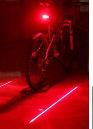 Велосипедний ліхтар з лазерною доріжкою габарит bike lightlaser велосипедный фонарь