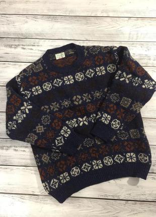 Винтажный вязаный свитер benetton made in italy