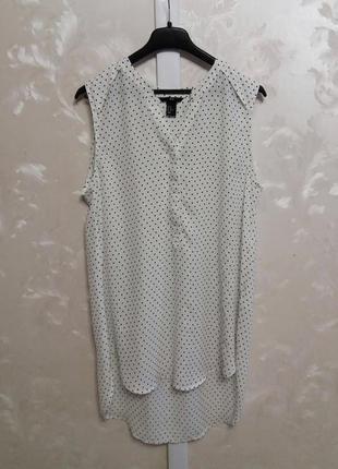 Удлиненная блуза в звездочки h&m