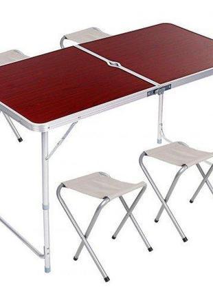 Меблі для пікніка набір стіл і 4 стільця туристичний складаний стіл для риболовлі