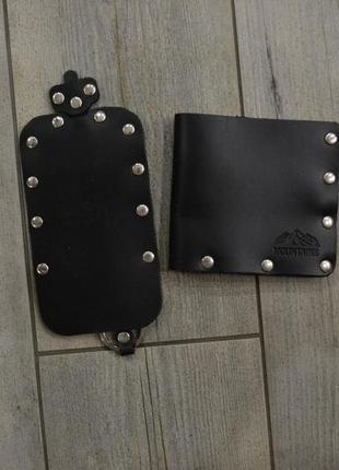 Набір шкіряний гаманець і ключниця mountains (кошелек и ключница кожаные)