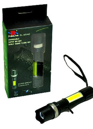 Ліхтар тактичний світлодіодний акумуляторний bl w546