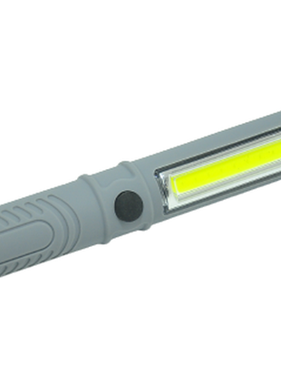 Ліхтар police 909b led+cob магніт grey