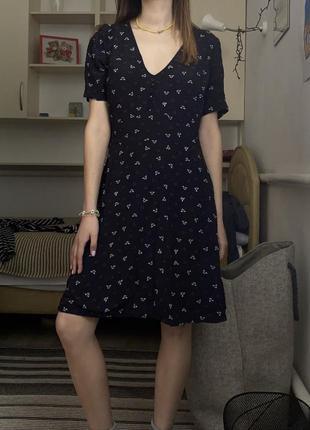 Сарафан миди а цветочный принт платье миди