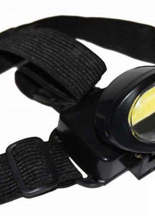 Ліхтар налобний bl 539 cob black налобный фонарь