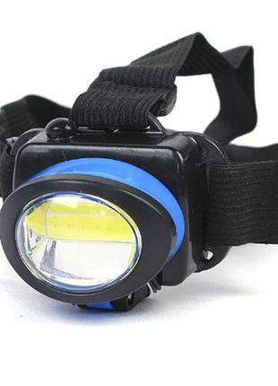 Ліхтар налобний bl 539 cob blue налобный фонарь
