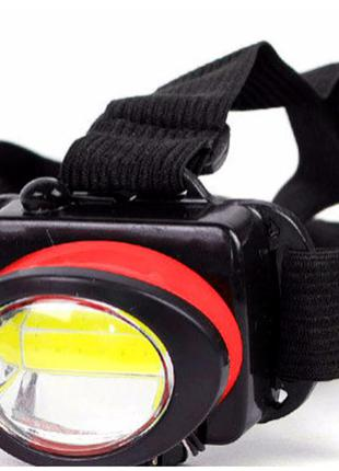 Ліхтар налобний bl 539 cob red налобный фонарь