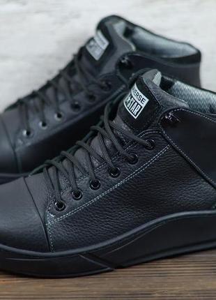 Мужские кожаные зимние ботинки converse