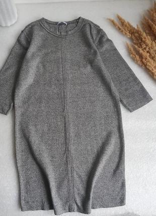 ✨крута ,тепла сукня ,платье , із необробленими краями✨1 фото