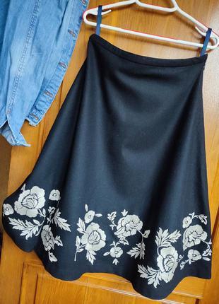 Тёплая шерстяная юбка