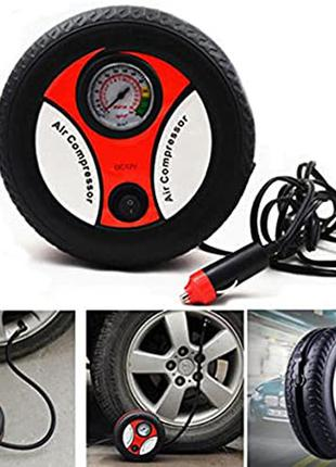 Насос компресор mini tire air compressor для надувних матрасів, м'ячів, коліс від прикурювача