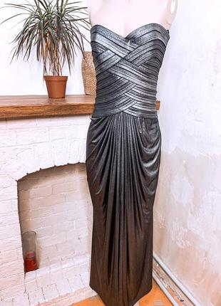Красивое платье в пол , платье нарядное , платье с разрезом