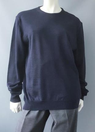 Тонкий свитер, шерсть в составе (50%), италия
