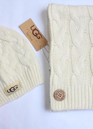 Комплект шапка и шарф ugg australia