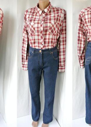 Брендовые джинсы m&co со средней посадкой. размер uk12/eur40 (l).