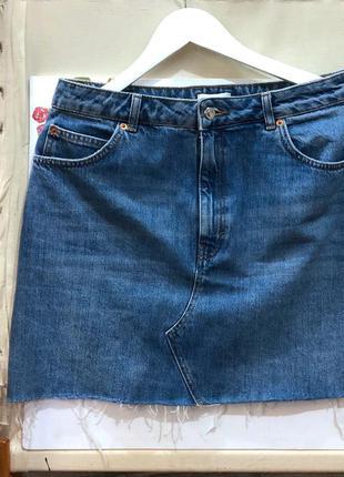 Стильная джинсовая юбка topshop2 фото