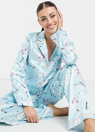 Пижама атлас большой размер 🌸🌸🌸