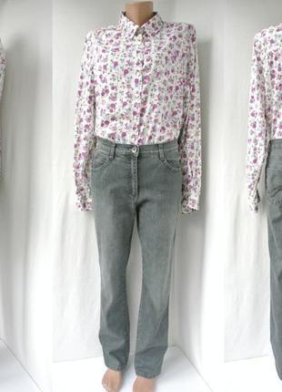 Классические серые джинсы brax прямого кроя. размер uk14/eur42.
