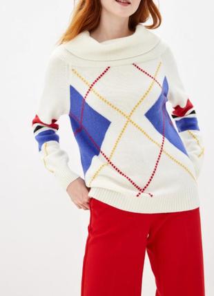 M р теплый свитер оверсайз, шерсть, benetton