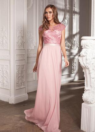 Шикарное вечернее длинное платье украинского дизайнера!