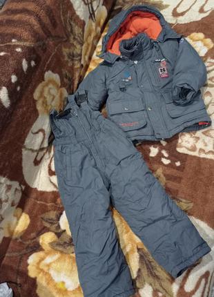 Качественный зимний костюм на рост 104 для мальчика