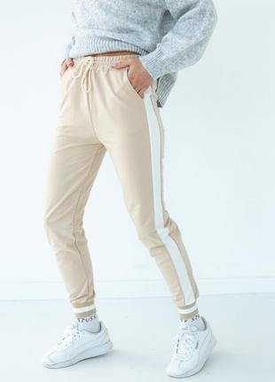 Жіночі спортивні штани, джогери з лампасами турція