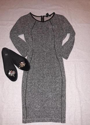Плаття тепле сіре h&m