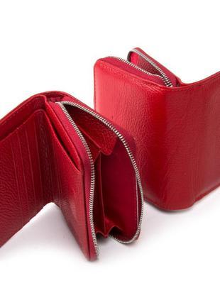 Кошелек женский кожаний красный гаманець жіночий шкіряний