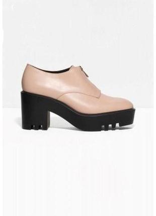 Кожаные туфли на тракторной подошве & other stories