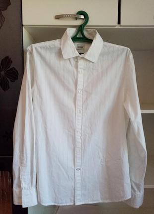 Белая рубашка сорочка біла чоловіча guess