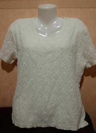Гипюровая котоновая блуза большого размера (24-26)