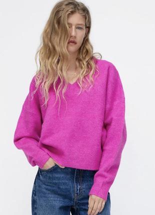 Свитер зара , розовый свитер зара