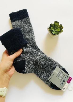🔥мега теплые носки-тапочки с плюшем и стопперами vanvaan германия