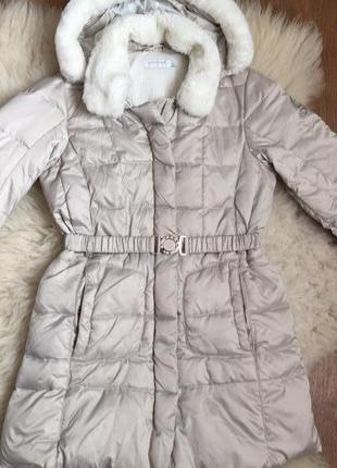 Пальто / пуховик geox / зимнее пальто / италия