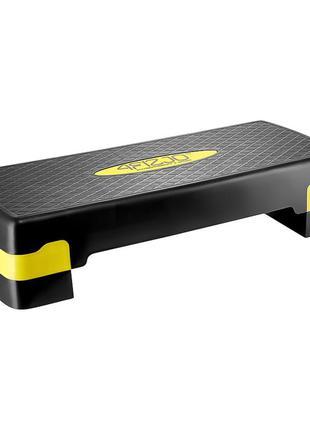 Степ-платформа 2-ступенчатая 4fizjo 4fj0176 black/yellow